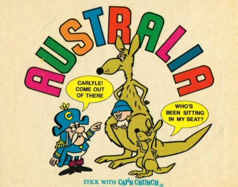 Australia capn crunch carlyle