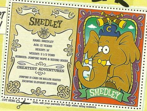 Capn Crunch Smedley character card